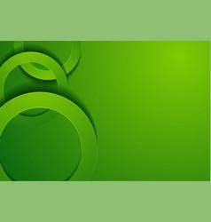 Modern green backgrounds 3d circle papercut layer vector