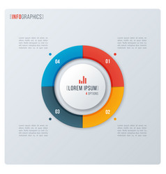 modern style circle donut chart infographic vector image