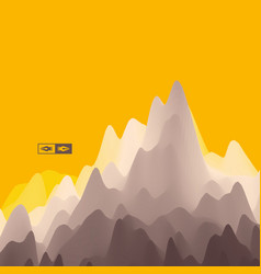 Mountainous terrain abstract background vector