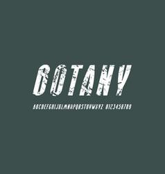 oblique narrow sans serif font vector image