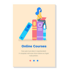 Online educational courses studying science vector