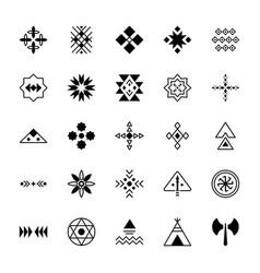 Pack tribal symbols vector