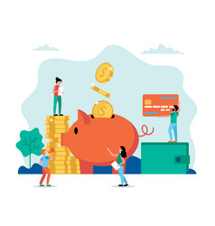 piggy bank - investment savings income money vector image