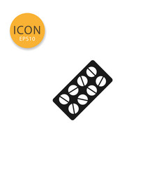 pill blister icon isolated flat style vector image