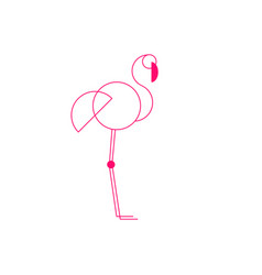 pink flamingo silhouette vector image