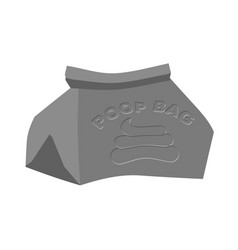 poop bag bag for canine shit isolated vector image