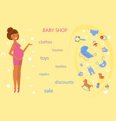 pregnant women shopping vector image