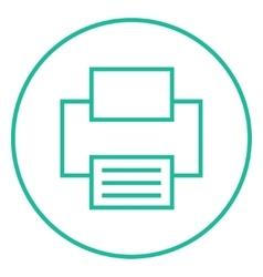 Printer line icon vector image