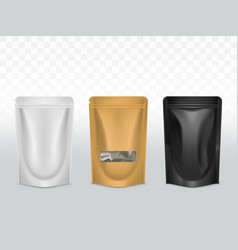 Products polyethylene packaging realistic vector