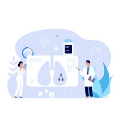 pulmonology concept respiratory illness vector image