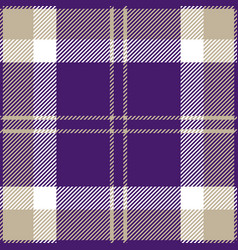 purple grey and white tartan plaid seamless patter vector image