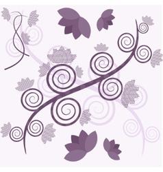 purple tree vector image vector image