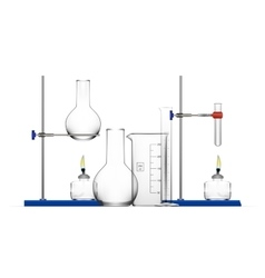Realistic Chemical Laboratory Equipment Set Glass vector