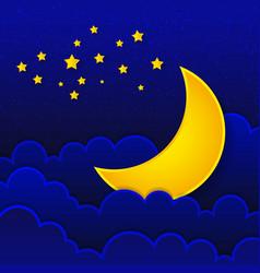 Retro of a smiling moon good night vector