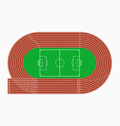 running track and soccer or football field vector image