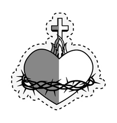 sacred Heart of Jesus vector image