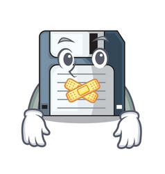 Silent floppy disk in the writing wallet vector
