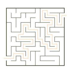 simple maze vector image