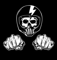 skull hand ride for life vector image