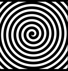 spiral background in black and white vector image