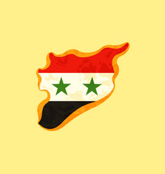 Syria - map colored with syrian flag vector