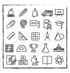thin line school education and science icons set vector image