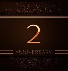 Two years anniversary celebration logotype vector