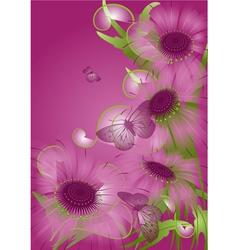 Unusual purple flowers vector