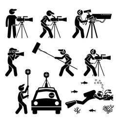 Videographer filmmaker cinematographer and vector