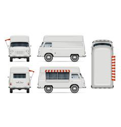 Vintage food truck mock-up vector