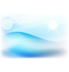 Water wave in sunny day vector