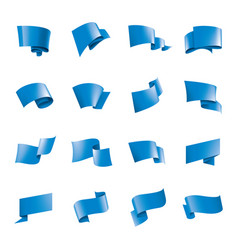 waving blue flag on a white background vector image