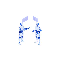Web interaction artificial intelligence with self vector