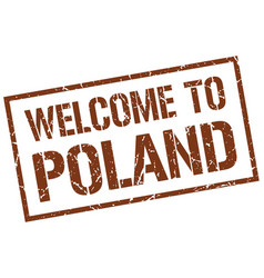 Welcome to poland stamp vector