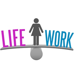 Woman balance life work decision choice vector image