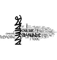 Adware spyware removal tool text word cloud vector