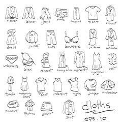 dressing cloth icon set vector image vector image