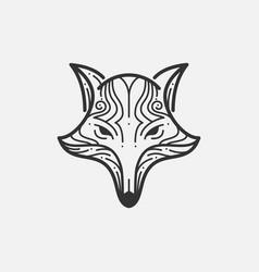 Fox Line Mono vector image vector image