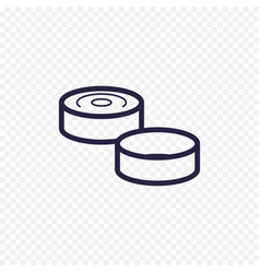 game of checkers line icon checkers figure thin vector image vector image