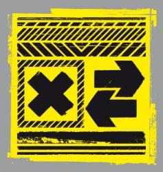 hazard elements vector image vector image
