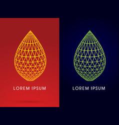 Outline luxury lotus leaf shape vector