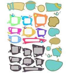 speech bubbles big set vector image