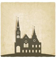 Catholic church old background vector image