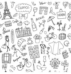 france sketch seamless pattern for your design vector image vector image