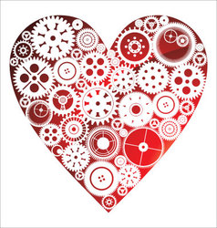 Love heart background vector image vector image
