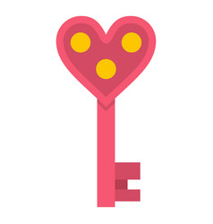 love key icon isolated vector image vector image