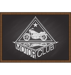 Motor club on chalkboard vector image
