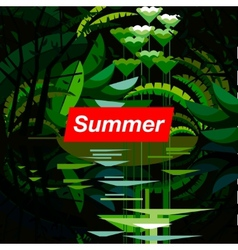 Summer tropical forest seasonal background vector image
