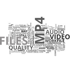 what is mp text word cloud concept vector image vector image