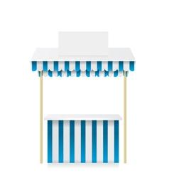 Market stall shop vector image vector image
